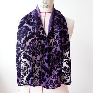 🐝 Echo Velvet Purple Scarf